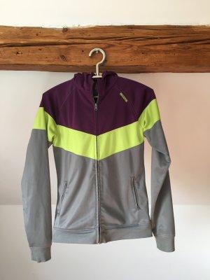 Mazine trainingsjacke L 40 38 grau grün lila sportjacke hoodie kapuzenjacke