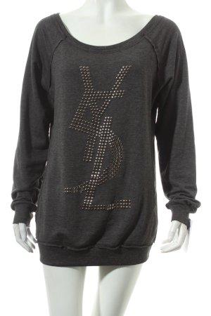 MB My Brand Sweatshirt dunkelgrau-silberfarben Casual-Look