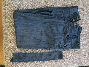 mbJ Jeans 36 / 32 blau Hose Damen Chino Hose unten enger lässig
