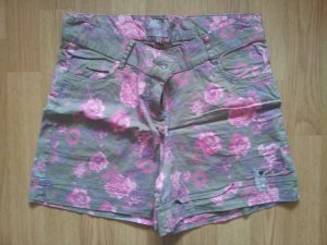 Mbj Shorts Rosen Blumen Sommer floral 36 S khaki pink geblümt Sommer