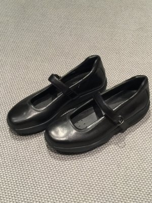 Ballerinas black leather
