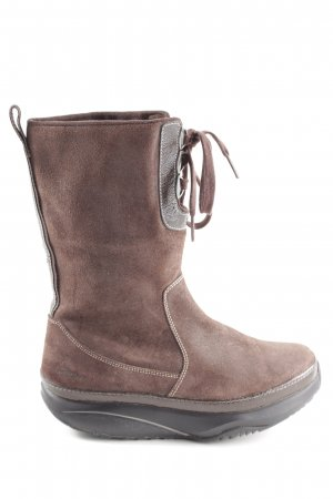 MBT Short Boots brown casual look