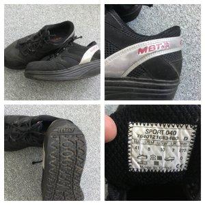 Zapatos brogue negro tejido mezclado