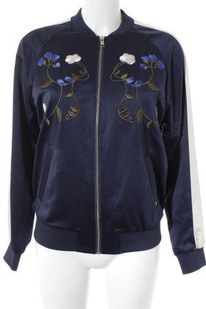 mbyM Blouson aviateur motif de fleur style mode des rues