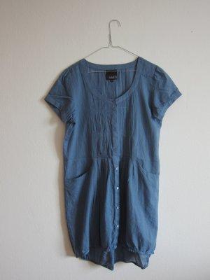 mbyM Robe ballon bleu acier coton