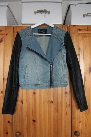 MbyM Jeansjacke mit Ärmeln aus Echtleder Gr. M NEU