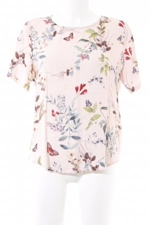 mbyM Kurzarm-Bluse Blumenmuster Casual-Look