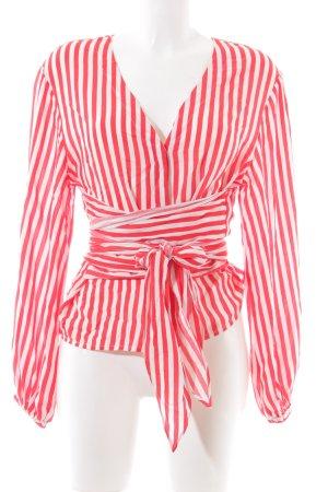 mbyM Langarm-Bluse rot-weiß Streifenmuster Casual-Look