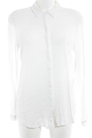 mbyM Langarm-Bluse weiß Casual-Look