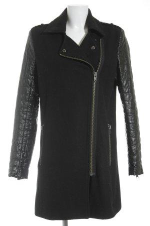 mbyM Lange Jacke schwarz Street-Fashion-Look