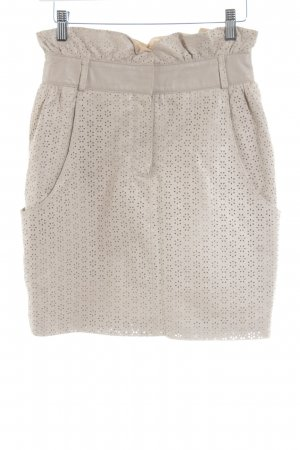 mbyM Leather Skirt flower pattern casual look