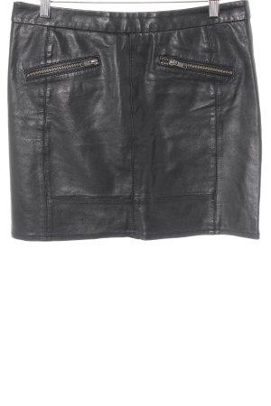mbyM Leather Skirt black street-fashion look