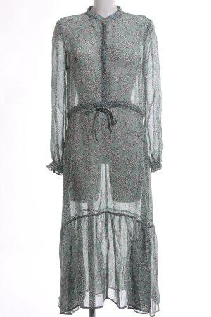 mbyM Vestido largo caqui-gris claro estampado repetido sobre toda la superficie