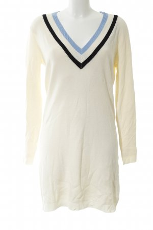 mbyM Robe pull blanc cassé motif rayé style décontracté