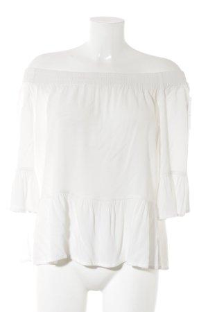mbyM Rüschen-Bluse weiß schlichter Stil