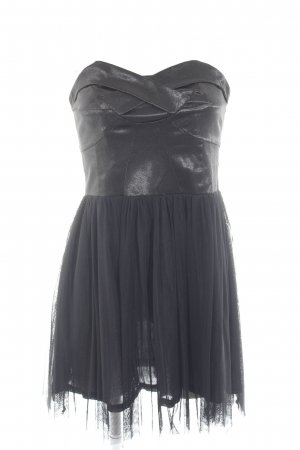 mbyM schulterfreies Kleid schwarz