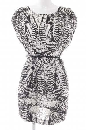 mbyM Shirtkleid weiß-schwarz Animalmuster Casual-Look