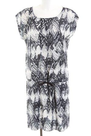 mbyM Shirtkleid weiß-schwarz Kunstmuster Casual-Look