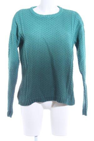 mbyM Strickpullover waldgrün-hellgrün Farbverlauf Casual-Look