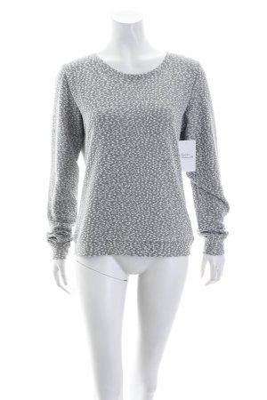 mbyM Sweat gris clair-argenté motif abstrait scintillant