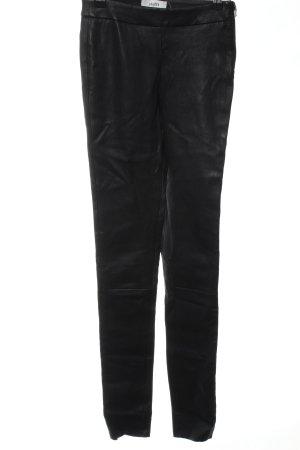 mbyM Pantalone in pelle nero stile casual
