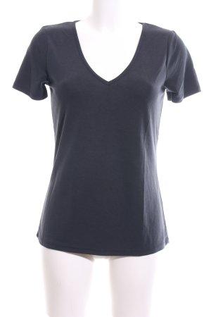 mbyM T-shirt col en V bleu style décontracté