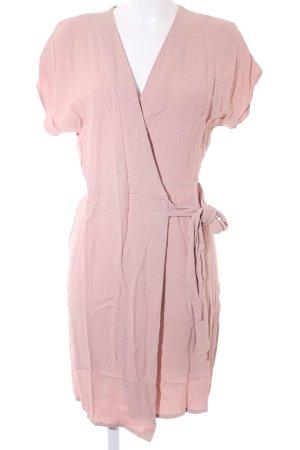 mbyM Vestido cruzado rosa empolvado estilo sencillo