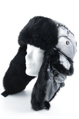 Mc Burn Aviator Hat black fluffy