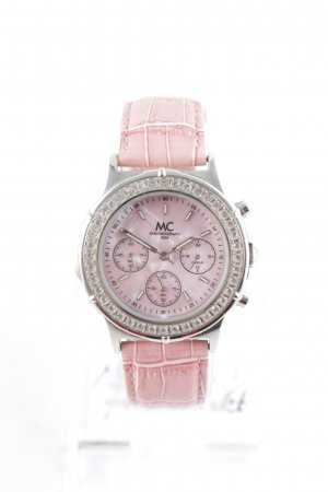 MC Chronograph Watch With Leather Strap multicolored elegant