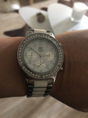 MC Chronograph Uhr weiß/Zirkonie Top