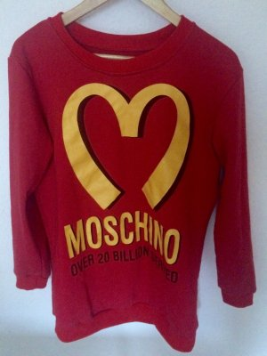 Mc Donalds Moschino Pullover rot