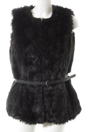 McGregor Vest van imitatiebont zwart-grijs-bruin elegant