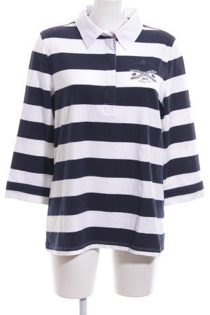 McGregor Polo-Shirt blau-weiß Streifenmuster Casual-Look