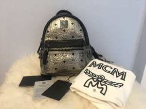 MCM Trekking Backpack light grey-silver-colored