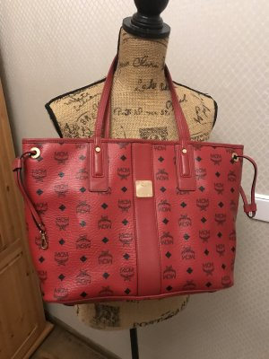 MCM Shopper dark red
