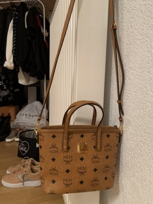 MCM Anya Top Zip Shopper Mini Beige