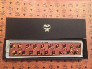 MCM Armband in cognac mit Nieten