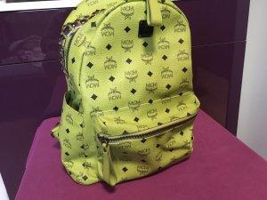 MCM Backpack Rucksack Medium Grün schwarz Nieten