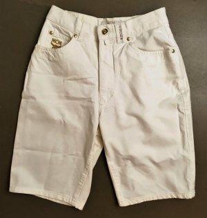 MCM Bermuda blanc cassé-doré tissu mixte