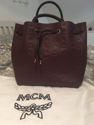 MCM Borsellino bordeaux-marrone-rosso