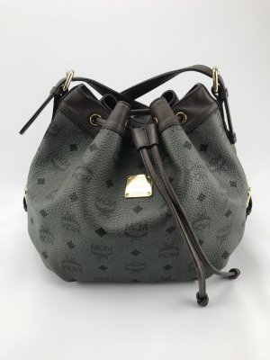 MCM Pouch Bag dark brown-khaki