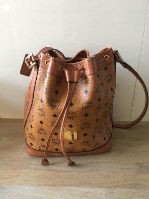 MCM Beutel Tasche Heritage Bucket Bag Small Congnac
