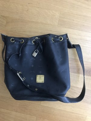 MCM Pouch Bag black-dark blue