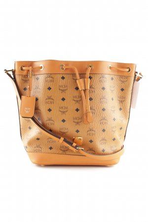 "MCM Sac seau ""Heritage Drawstring Bucket Bag Small Cognac"""