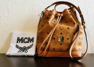 MCM Beuteltasche  Heritage Drawstring Small Cognac