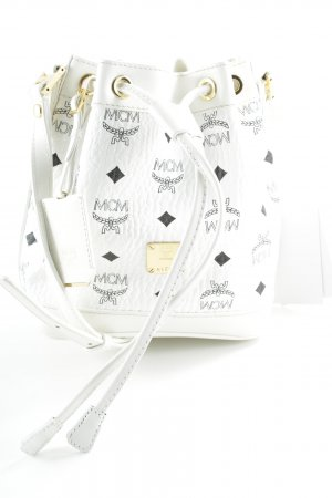 "MCM Sac seau ""Heritage Mini Drawstring White"""