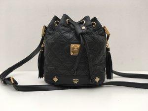 MCM Pouch Bag black-gold-colored