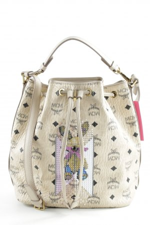 "MCM Sac seau ""Rabbit Drawstring Bag Small Beige"""