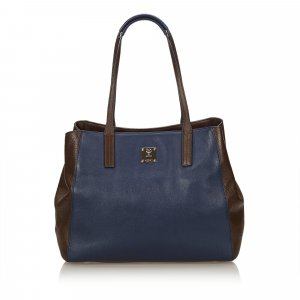 MCM Bicolor Leather Tote Bag