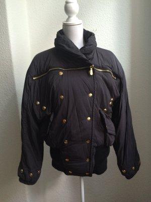 MCM Blouson Jacke schwarz mit goldenen Details